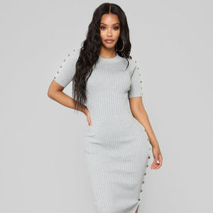 NWT Snap Back At You Sweater Midi Dress
